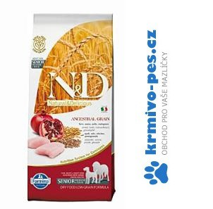 N&D LG DOG Senior M/L Chicken&Pomegr 12kg (balení 2x12kg)