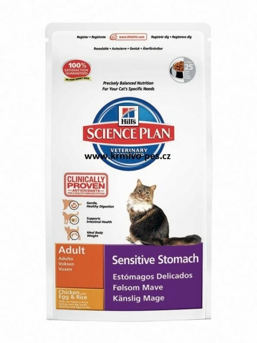 Hill's Feline Dry Sensitive Stomach 1,5kg
