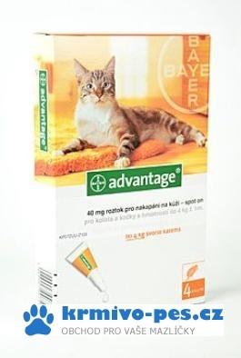 Advantage 40 10% 4x0,4ml pro kočky do 4kg + kapsička pro kočku zdarma