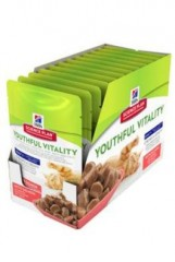 Hill's Feline kapsa 7+Youthful Vitality Salmon 12x85g