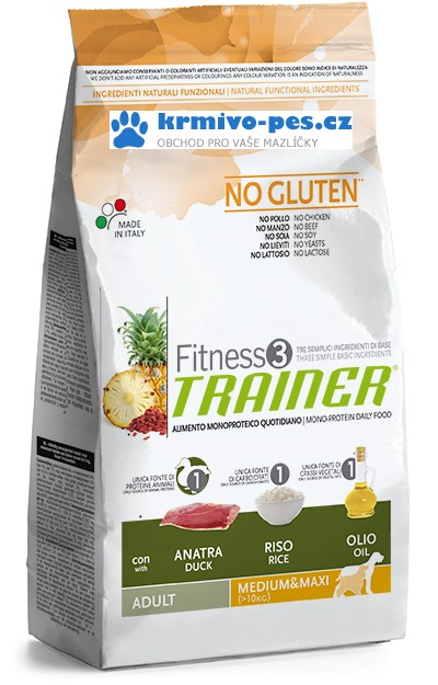 Trainer Fitness Adult M/M No Gluten Duck Rice 12kg