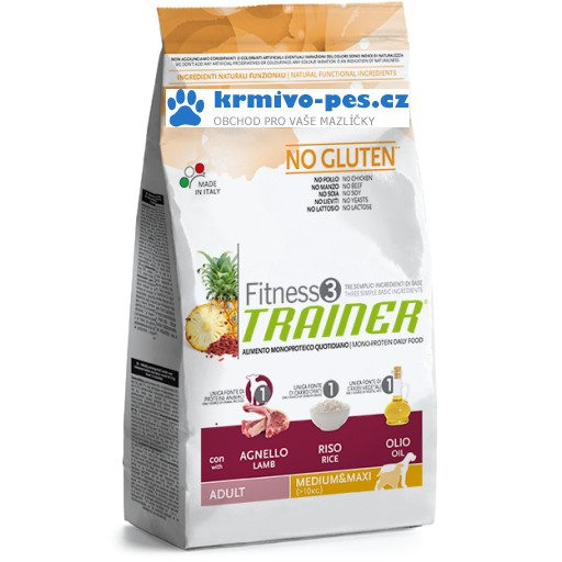 Trainer Fitness Adult M/M No Gluten Lamb Rice 12,5kg