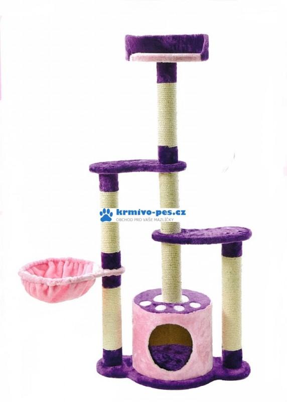 Škrábací Strom Kitty'sLovelyHome, fialový 122x58x35