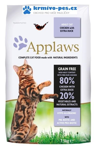 Applaws Cat Dry Adult Duck 7,5kg