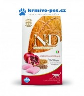 N&D LG CAT Adult Chicken & Pomegranate 5kg + VIP kupon 50,00Kč