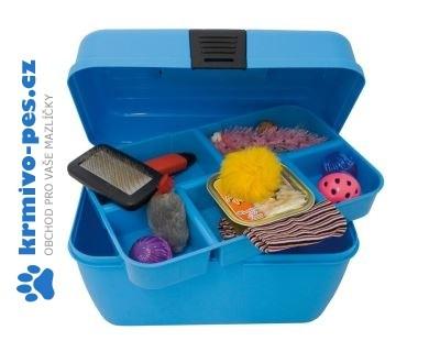 Box na příslušenství Modrý ARGI 29 x 19 x 18 cm