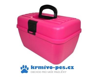 Box na příslušenství Růžový ARGI 29 x 19 x 18 cm