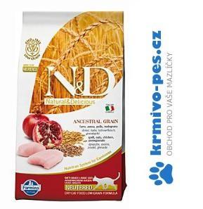 N&D Low Grain CAT Neutered Chicken & Pomegranate 5kg (2ksx5kg)