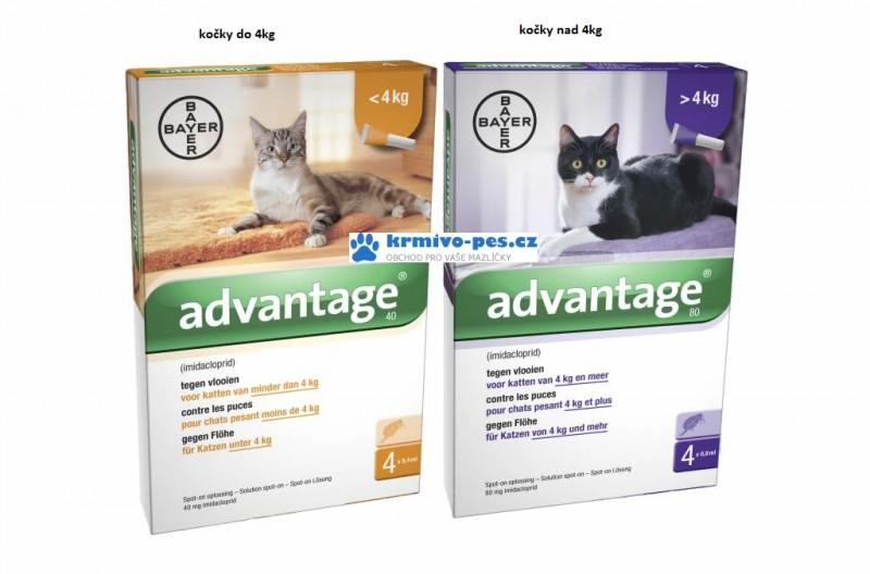 Advantage 40 10% 1 pipeta x0,4ml pro kočky do 4kg