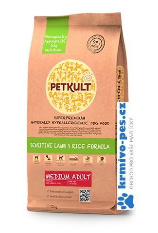 PETKULT dog MEDIUM ADULT lamb/rice 12kg