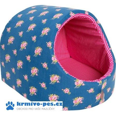 Kukaň textil Růženka modro/růžová 40 x 46 cm + DOPRAVA ZDARMA