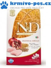 N&D LG DOG Adult Mini Chicken & Pomegranate 2,5kg + VIP kupon 30,00Kč