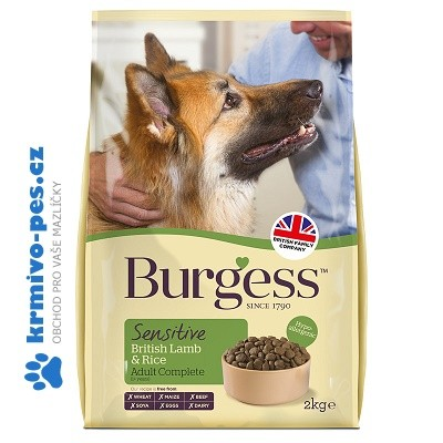 BURGESS dog SENSITIVE adult LAMB/rice 2kg