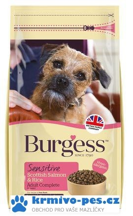 BURGESS dog SENSITIVE adult SALMON/rice 12,5kg