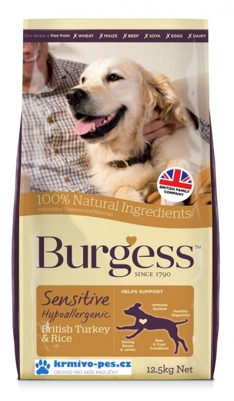 BURGESS dog SENSITIVE adult TURKEY/rice 12,5kg