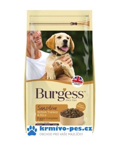BURGESS dog SENSITIVE puppy TURKEY/rice 12,5kg