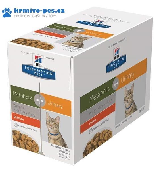 Hill's Feline Metabolic + Urinary kapsička 12 x 85 g
