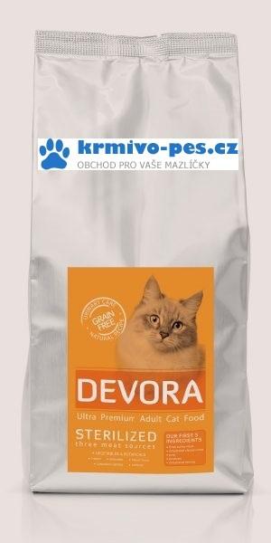 DEVORA cat GF STERILISED turkey/chicken 7,5kg