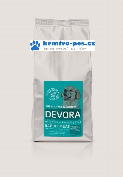 DEVORA dog GF PUPPY/rabbit 4kg