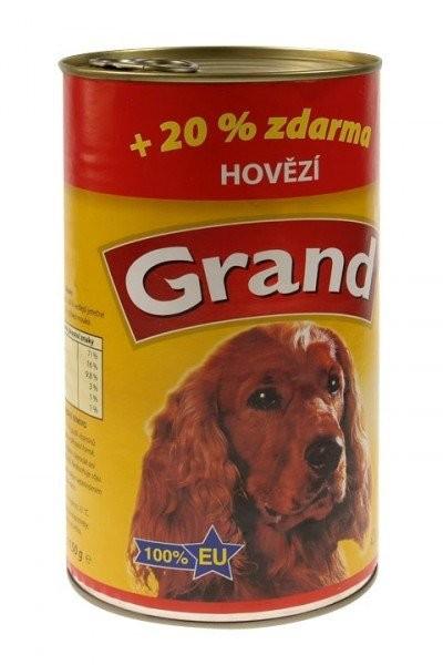 GRAND konz. pes hovězí 1300g