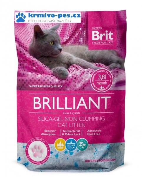 Brit Care podestýlka Brilliant Silica-gel 7,6l 8ks