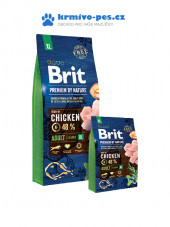 Brit Premium Dog by Nature Adult XL 15kg + Doprava zdarma