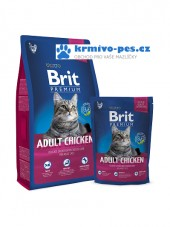 Brit Premium Cat Adult Chicken 8kg + kapsička zdarma