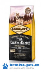 Carnilove Dog Fresh Chicken & Rabbit for Adult 12kg + VIP Kupon 100,00Kč