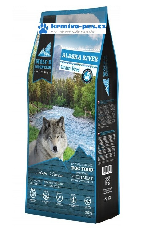 Wolf's Mountain Dog Alaska River Grain Free 12,5kg