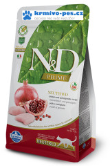 N&D GF PRIME CAT Neutered Chicken&Pomegranate 1,5kg + DOPRAVA ZDARMA