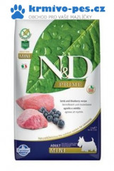 N&D PRIME DOG Adult Mini Lamb & Blueberry 2,5kg + doprava zdarma