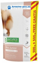 Nature's Protection Dog Dry Junior Mini 500g + 500g