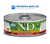 N&D CAT PRIME konzerva Adult Chicken & Pomegranate 80g
