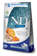 N&D OCEAN DOG GF Adult M/L Codfish&Pumpkin&Orange 12kg