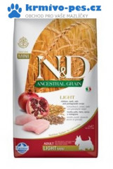 N&D LG DOG Light Mini Chicken & Pomegr 2,5kg + dentální pamlsek