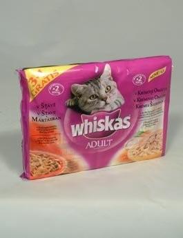 Whiskas kapsa Menu v krémové omáčce 4x100g