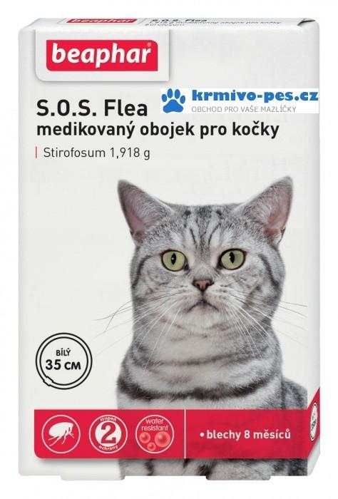 Beaphar Obojek antipar.kočka SOS adult 35cm new