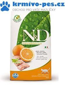 N&D Grain Free CAT Adult Fish & Orange 1,5kg + paštika pro kočky + sleva pro registrované