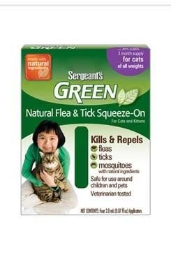 Sergeanťs Green spot on pro kočky 3x1,5ml