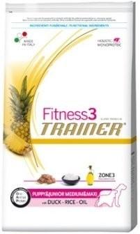 Trainer Fitness Puppy Junior M+M Duck Rice 12,5 kg