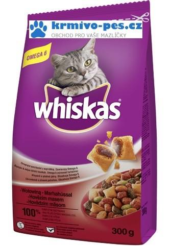 Whiskas Dry s hovězím masem 1,4kg