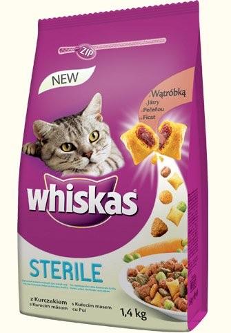 Whiskas Dry - STERILE 14kg