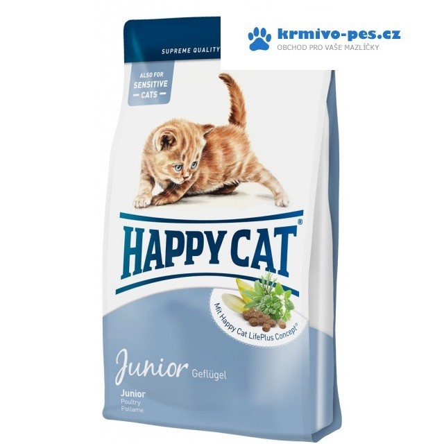 Happy Cat Supr. Junior Fit&Well 4kg kotě,ml.kočka