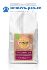 PETKULT dog SEMIMOIST / MINI ADULT turkey 1,5kg