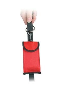 Pouzdro nylon Červený+ sáčky na psí exkrementy 8ks TR