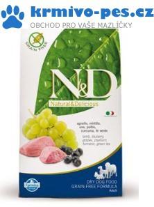 N&D GF DOG Adult Lamb & Blueberry 800g