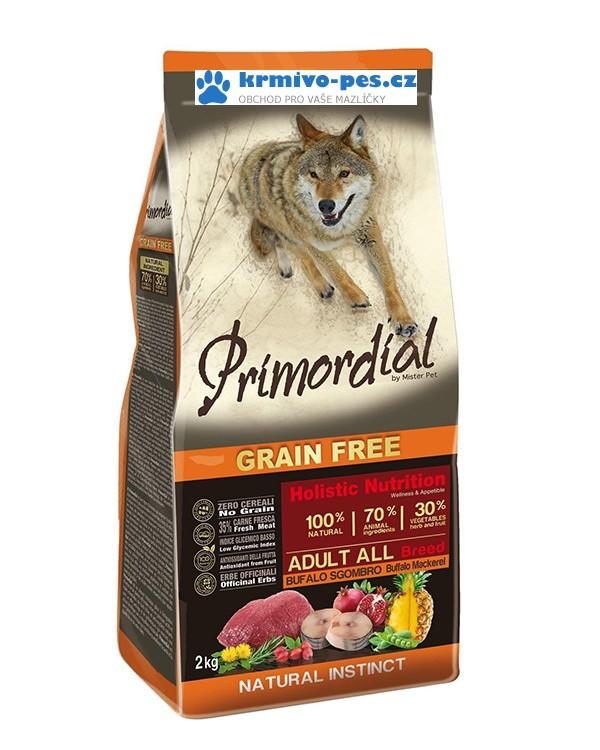 Primordial BUVOL & MAKRELA pro dospělé psy 12kg