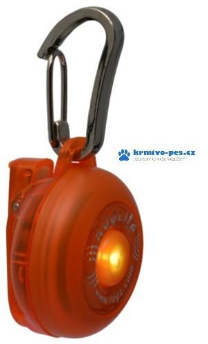 Rogz světýlko RogLite na obojek Oranžová 3x4cm