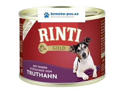 Rinti Dog Gold Senior konzerva krůta 185g
