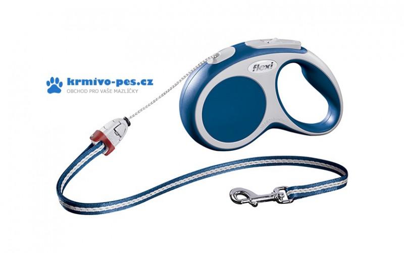 Vodítko FLEXI VARIO Lanko S 5m/12kg Modrá